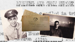 How a World War 2 letter between two cousins triggered a search for the final resting place of nine missing USAAF Airmen.